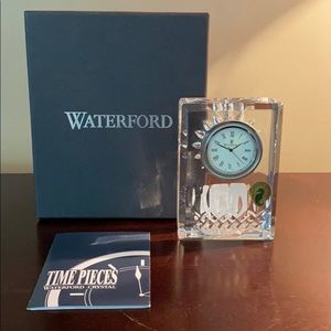 Waterford Lismore Crystal Clock - Brand New